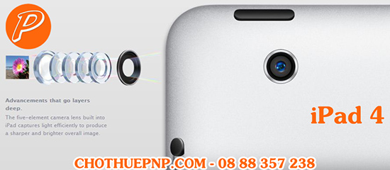 Cho Thuê iPad 4 Ghi Hình Full HD 1080p@4030fps Chống Rung