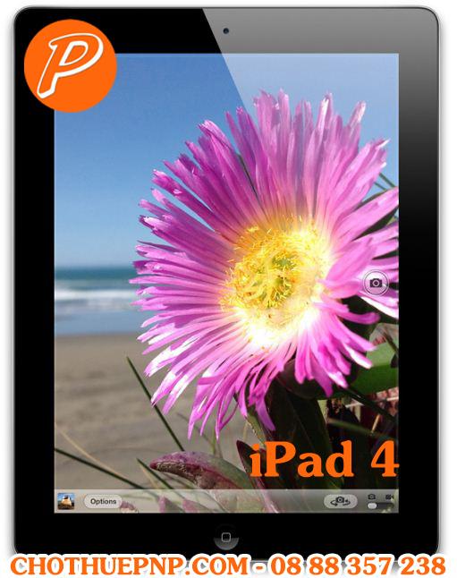 Cho Thuê iPad 4 Chụp hình 5 megapixel, tự động lấy nét, chạm lấy nét