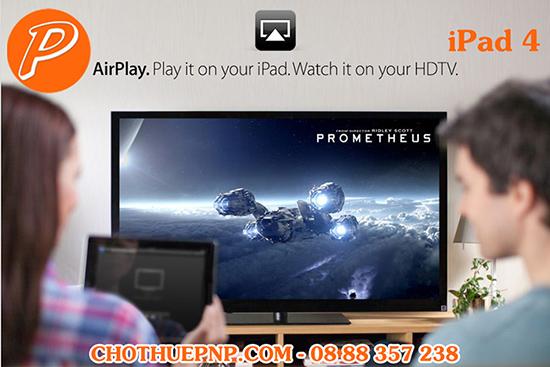 Cho Thuê iPad 4 Trình chiếu qua AirPlay, in ấn qua AirPrint