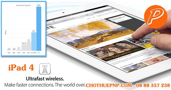 Cho Thuê Ipad 4 Công nghệ Wifi dual-band siêu nhanh