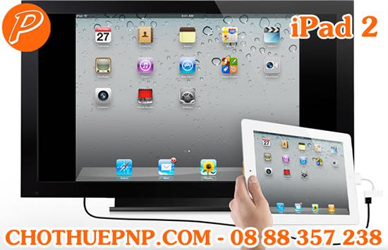 Ipad 2có thể trình chiếu hình ảnh, video thông qua kết nối HDMI, xuất ra TV hay các thiết bị ngoại vi khác