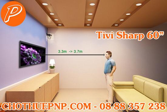 Khoảng cách hơp lý khi xem tivi là 3,3m – 3,7m