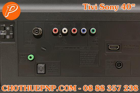 Thuê Tivi Sony40 INCHScó các cổng kết nối HDMI,Optical,AV Component,Jack loa 3.5 mm...